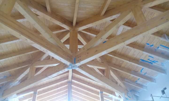 Τετράριχτη στέγη ξύλινη